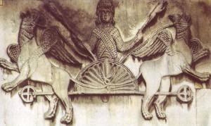 Рис. 3 Вознесение Александра. Барельеф. Венеция. Собор Сан-Марко. 11 в.