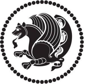 """Рис. 4 Симаргл - божество семян, ростков, корней растений; охранитель побегов и зелени. Символ """"вооружённого добра"""". Посредник между верховным божеством неба и землёй, Симаргл имел облик """"собако-птицы"""" или грифона."""