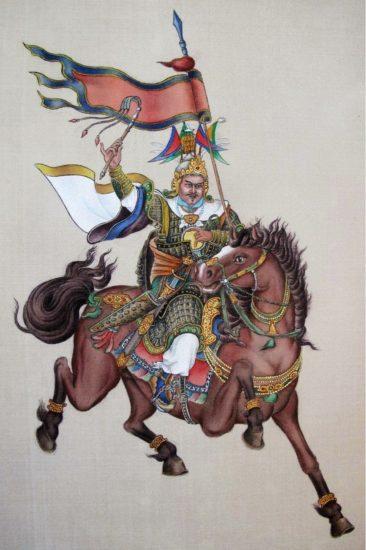 Рис. 1. Кесар из Линга (Художник Лянь Руй Ван)