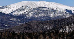 Гора Бурхан Халдун. Зимний пейзаж.